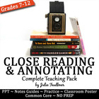 Focusing In: Close Reading and Annotating a Text {CC Teach