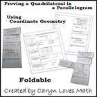 Foldable-Proving a Quadrilateral is Parallelogram using Co