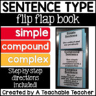 Simple, Compound, & Complex Sentence {Folding Activity - F