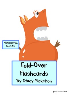 Folded Flashcards - Multiplication - 5's