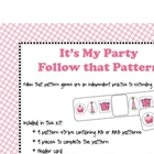 Follow that Pattern- Party  theme