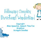 Following Complex Directions Wonderland!