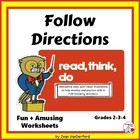 Following Directions Activities in Read, Think, Do