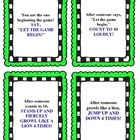Following Directions Activity/Game