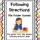 Following Directions File Folder Games