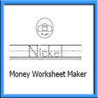 Make your Money Worksheet: Font: Money Font plus Tracing Font..
