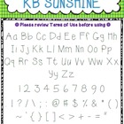 Font - Personal or Commercial Use: KB Sunshine and KB Suns