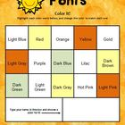 Fonts: Color It! Changing Font Colors (A Microsoft Word Activity)