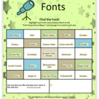 Fonts: Find the Font! (A Microsoft Word Activity)