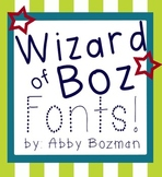 Fonts for  Personal and Commercial Use - Wizard of Boz Sta