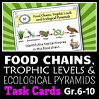 Food Chains, Trophic Levels and Ecological Pyramids - Task Cards