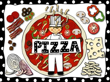 Food Clip Art: Pizza and Toppings Available for Commercial Use
