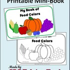 Food Colors Mini-Book