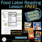 Food Label Reading Lesson + PwrPt: Is This Product Healthy?