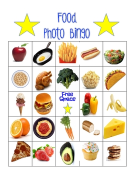 Food Photo Bingo