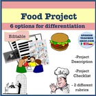 Food Project (Level 1) with Rubric