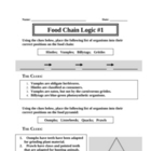 Food Web Logic Puzzles