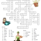 Food in Spanish -- 2 Free Puzzle Worksheets