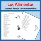 Foods Vocabulary Lists, Activities, Crossword, Games, and