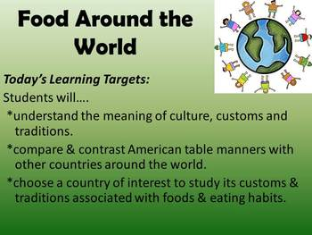 Foods and Table Etiquette Around the World!