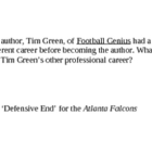 Football Genius by Tim Green (flash cards)