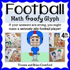 Football Math Goofy Glyph (4th Grade Common Core)
