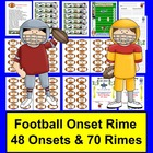 Football Onset Rime DIBELS Word Building-48 Onsets & 70 Ri