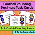 Football Rounding Decimals Task Cards and Recording Sheets