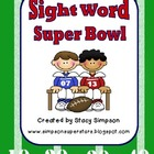 Football - Sight Word Super Bowl