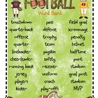 Football Word Bank and Writing Templates...Freebies!
