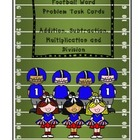 Football Word Problem Task Cards {Common Core Math for Upp