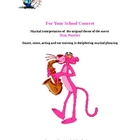For your school concert, musical interpretation of Pink Panther