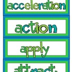 Force &amp; Motion Word Wall