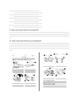Forces Review Worksheet:  Describing Forces