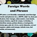 Foreign Words and Phrases - Word Wall Poster Printables