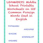 Foreign Words in English: Printables on 125 Foreign Words