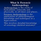 Forensic Anthropology PowerPoint