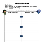 Foreshadowing - Worksheet