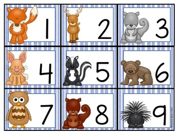 Forest Animal Calendar Numbers