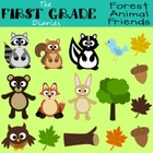 Forest Animal Friends {Digital Clip Art} Bear Owl Fox Rabb