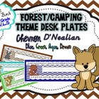 Forest Theme Nameplates Chevron D'Nealian