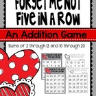Forget Me Not Five in a Row {FREEBIE}