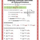 Form B Graphing, Continuity, and Limits with Rational Functions