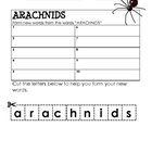 Form a Word: ARACHNIDS