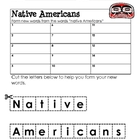 Form a Word: NATIVE AMERICANS