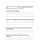 Form for getting student info from classroom teachers