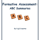 Formative Assessment-ABC Summaries!