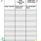 Forms for Meet the Teacher Star Theme