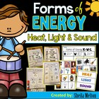 Forms of Energy - Heat, Light, Sound {Science Picture Card