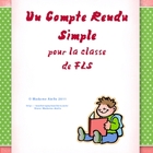 Formulaire d&#039;un Compte Rendu - French Book Report